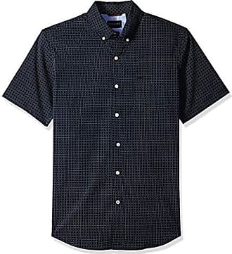 Dockers Mens Short Sleeve Button Down Comfort Flex Shirt, Pembroke Print, Large