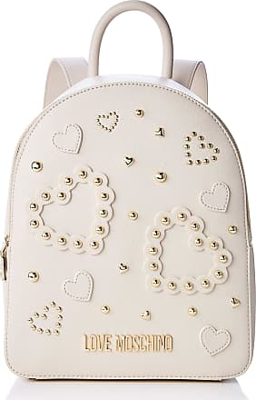 Love Moschino Jc4036pp1a Womens Backpack Handbag, Off-White (Avorio), 10x27x30 centimeters (W x H x L)