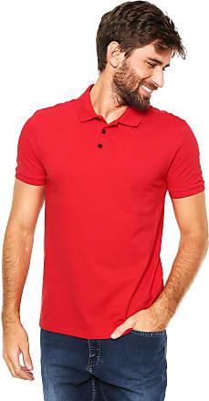 27c3c23788343 Calvin Klein Jeans Camisa Polo Calvin Klein Jeans Reta Logo Vermelha