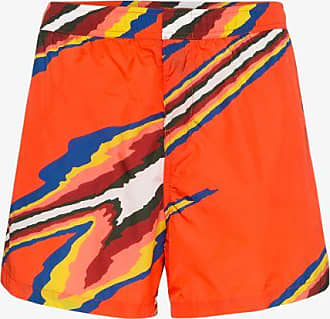 Missoni Mens Red Mare Stripe Print Swim Shorts