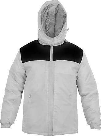 Parsa Fashions Mens Jacket Stylish Padded Shell Contrast Puffer Bubble Warm Thick Coat Jackets M-XXL (XXL, Silver - Black)