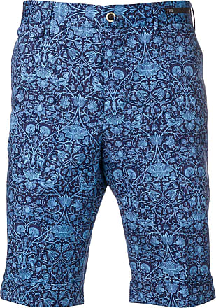 PT01 floral print chino shorts - Blue