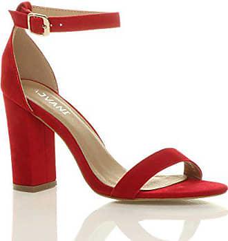 46d8ede9f1ea18 Ajvani Damen Hochblockabsatz Riemchen Peep Toe Schuhe Knöchelriemen-Sandalen  Größe 3 36