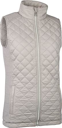 Glenmuir Ladies LW2624ZT Zip Front Diamond Quilted Performance Golf Gilet Stardust S