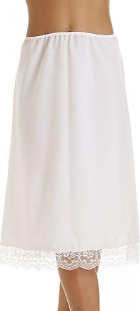 Camille Womens Lingerie White Lace Hemline Ladies 26 Half Underslip 14/16
