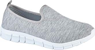 Urban Jacks Surf Womens Loafer Flats Shoes Trainers Pumps (7 UK, Light Grey)