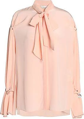 3.1 Phillip Lim 3.1 Phillip Lim Woman Pussy-bow Embellished Silk Crepe De Chine Blouse Blush Size 8