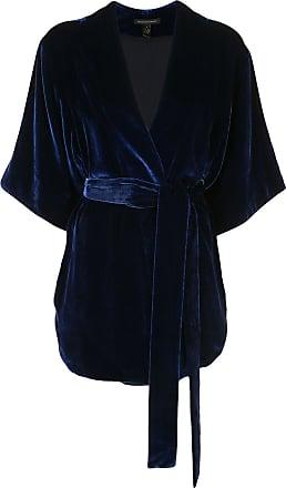 Kiki De Montparnasse belted wrap jacket - Blue