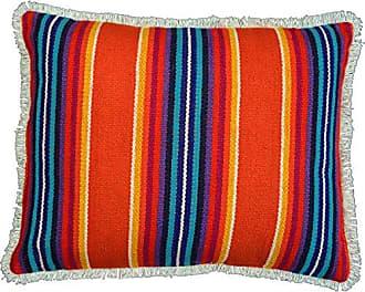 VHC Brands Coastal Boho & Eclectic Pillows & Throws - Clarissa Jacquard Orange 14 x 18 Pillow