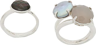 Wouters & Hendrix My Favourites pearls and agate stones ring - SILVER
