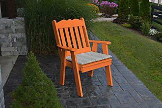 A & L Furniture A & L Furniture Poly Royal English Chair, Orange