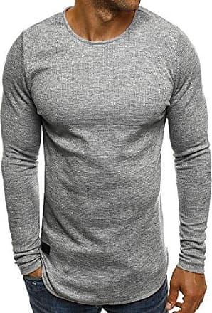 89c91d4de2a591 OZONEE Mix Herren Sweatshirt Langarmshirt Rundhals Pullover Sweats OZONEE  Mix 1165 GRAU S
