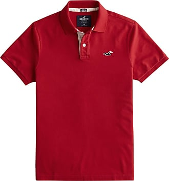 Hollister Poloshirt Heritage weiß / rot