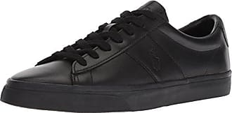 Polo Ralph Lauren Mens Sayer Sneaker, Black, 11.5 D US