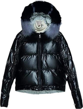 VITryst Women Hooded Packable Light Weight Short Down Jacket Parka Coat,Black,X-Large