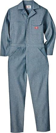 Dickies Mens Big-Tall Long Sleeve Cotton Coverall, Fisher Stripe, 3X Tall