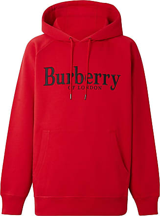 Burberry logo hoodie - Red