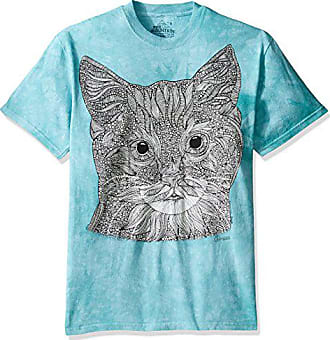 The Mountain Mens Big and Tall Colorwear Missy Kitten Adult Coloring T-Shirt, Green, 4XL