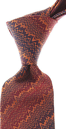 Missoni Ties On Sale, Dark Orange, Silk, 2017, one size