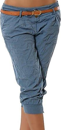 372f92b6593e01 Juleya Damen Chino Stoffhose Capri 3/4 Hose Kurze Sommer Bermuda Einfarbig  Beiläufige Pants Kurze