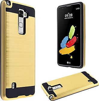 Mundaze Mundaze Gold Brushed Metal Double layer Case Cover for LG G Stylo 2