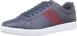 Lacoste Mens Carnaby Evo 319 1 SMA Trainers, Blue (NVY/Dk Red 5a5), 8.5 UK