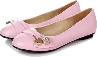 NOADream Women Moccasins Loafers Leather Ballet Boat Flats Stylish Casual Comfort Pregnant Dress Office Work Workout Driving Shoes for Ladies Pink