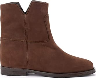 Via Roma 15 Ankle Boot in Brown Suede with Side Vents