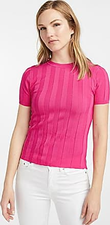 Contemporaine Ribbed short-sleeve sweater