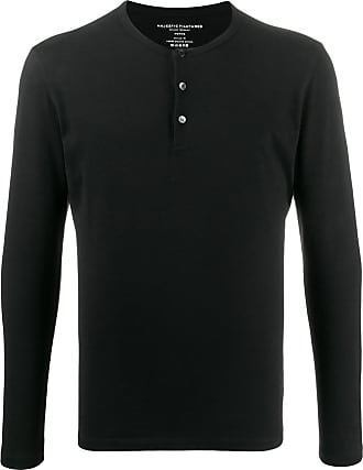 Majestic Filatures button-placket sweater - Preto