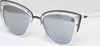 Quay Eyeware My Girl - Lunettes de soleil yeux de chat -  Transparent Argenté - a2503b028e7b
