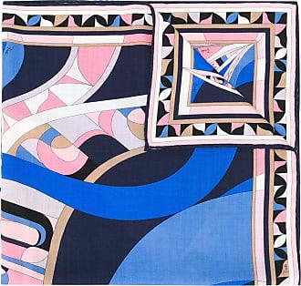 Emilio Pucci Echarpe com estampa abstrata - Azul
