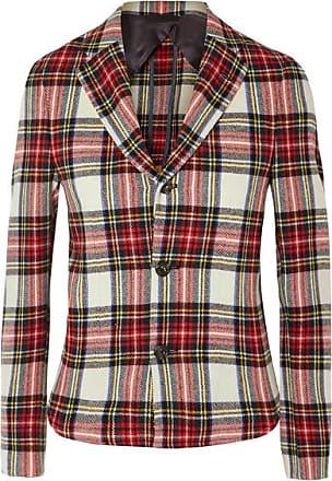 R13 Tartan Wool-blend Blazer - Red