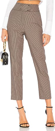 Rebecca Taylor Houndstooth Pant in Brown