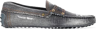 Tod's Mocassim jeans Gommino destroyed - Cinza
