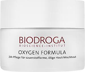 Biodroga Facial care Oxygen Formula 24h Care for Hypoxic, Oily Skin/Combination Skin 50 ml