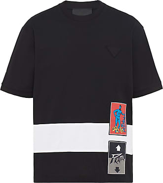Prada Camiseta com estampa de logo - Preto