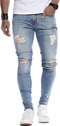 LEIF NELSON Mens Jeans Trousers Pants LN-9150 Light Blue W34/L30