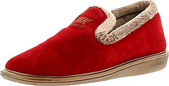 69d43c3dfe401 Nordikas 305 4 Plus Afelpado- Womens Suede Leather Material Full Slippers  Red - 8