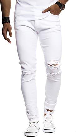 LEIF NELSON Mens Jeans Trousers Pants LN-9145 White W30/L30