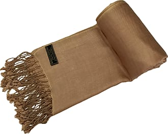 CJ Apparel Beige Solid Colour Design Nepalese Shawl Seconds Scarf Wrap Stole Throw Pashmina NEW