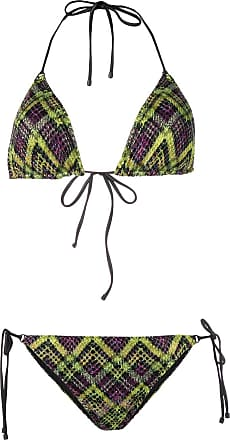 a5cff78185a58 Missoni check pattern knitted bikini - Green