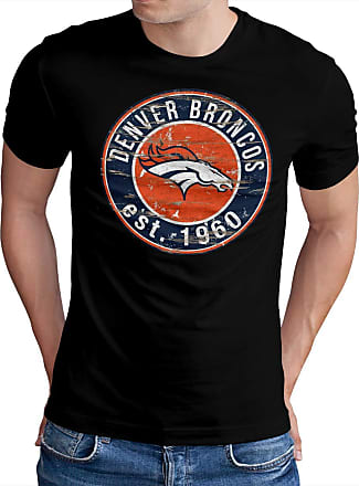 OM3 Denver-Badge - T-Shirt | Mens | American Football Shirt | XXL, Black