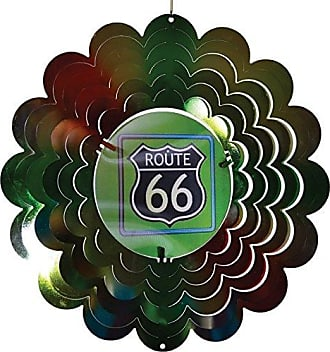 Great World Company StealStreet 609001 12 Multicolored Route 66 Design Holographic Wind Spinner