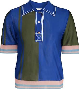 I-am-chen Camisa polo translúcida de seda - Azul