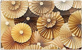 KESS InHouse Heidi JenningsCaramel Latte Yellow Gold Artistic Aluminum Magnet, 2 by 3, Multicolor