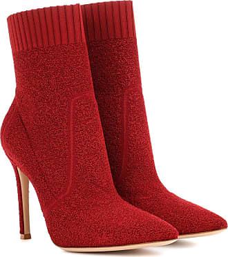 Gianvito Rossi Ankle Boots Fiona 105 aus Bouclé