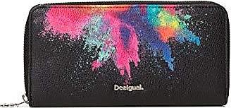 f8570c0bd Desigual Wallet Holi Fiona Women, Carteras Mujer, Negro, 2x10x20.2 cm (