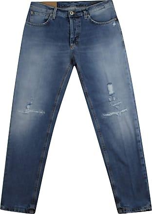 Dondup Jeans Brighton Uomo in Cotone blu Medio UP434DF0239U Azzurro 32