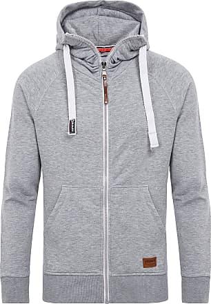 Yazubi Mens Full Zip Midweight Hoodies Jacob - Men Vintage Silver Sweater Hoody, Grey (Mirage Gray 154703), XXL